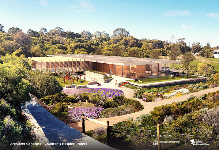 Artist render of the Children's Hospice Project