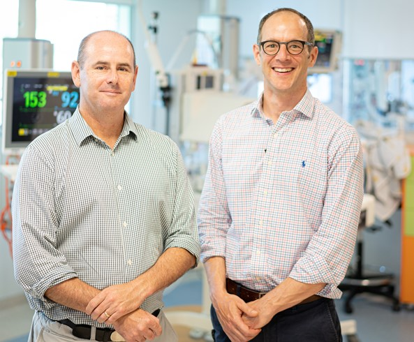 Consultant Neonatologist Dr Tobias Strunk (pictured right) with Neonatal Immunologist Dr Andrew Currie,