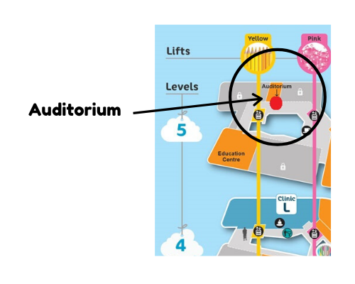 Map of the PCH Auditorium